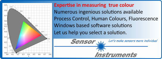 Click this advert to transfer to Sensor Instruments Colour Measurement